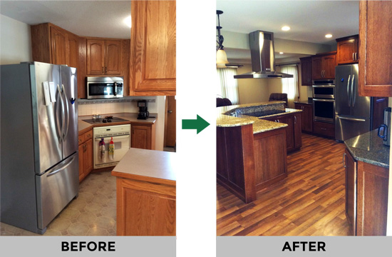 remodeling - before and after